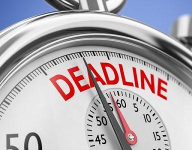 Organizator wydarzeń - deadline